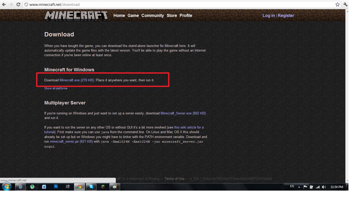 Minecraft Server EXE скачать